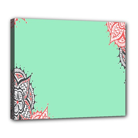 Flower Floral Green Deluxe Canvas 24  x 20