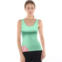Flower Floral Green Tank Top