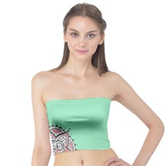 Flower Floral Green Tube Top