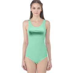 Flower Floral Green One Piece Swimsuit