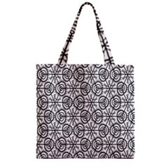 Flower Rose Black Triangle Zipper Grocery Tote Bag