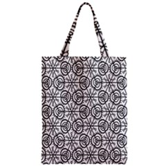 Flower Rose Black Triangle Zipper Classic Tote Bag