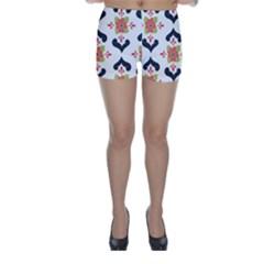 Flower Rose Floral Purple Pink Green Leaf Skinny Shorts
