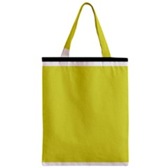Fun Little Green Wave Zipper Classic Tote Bag