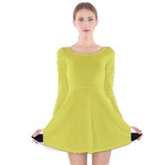 Fun Little Green Wave Long Sleeve Velvet Skater Dress