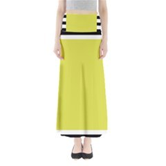 Fun Little Green Wave Maxi Skirts