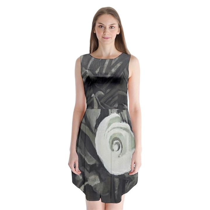 fibonacci calla-lily Sleeveless Chiffon Dress