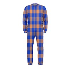Fabric Colour Blue Orange OnePiece Jumpsuit (Kids)