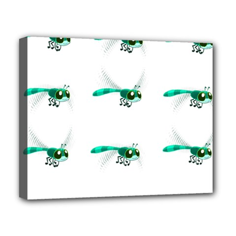 Flying Dragonfly Deluxe Canvas 20  x 16