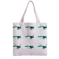 Flying Dragonfly Zipper Grocery Tote Bag