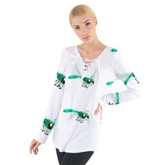 Flying Dragonfly Women s Tie Up Tee