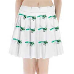 Flying Dragonfly Pleated Mini Skirt