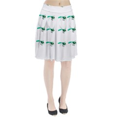 Flying Dragonfly Pleated Skirt