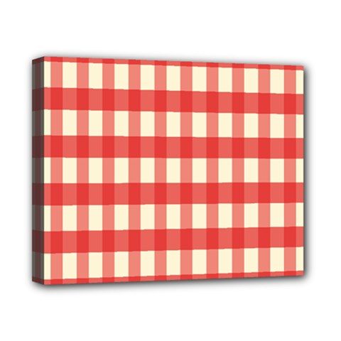 Gingham Red Plaid Canvas 10  x 8