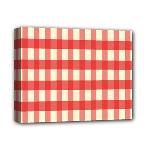 Gingham Red Plaid Deluxe Canvas 14  x 11