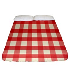 Gingham Red Plaid Fitted Sheet (king Size)