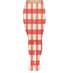 Gingham Red Plaid Women s Tights
