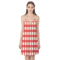 Gingham Red Plaid Camis Nightgown