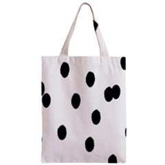 Gold Polka Dots Dalmatian Zipper Classic Tote Bag