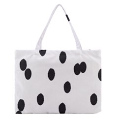 Gold Polka Dots Dalmatian Medium Zipper Tote Bag