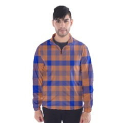 Fabric Colour Orange Blue Wind Breaker (Men)