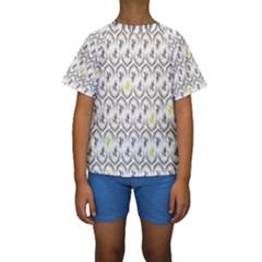 Garden Tree Flower Kids  Short Sleeve Swimwear