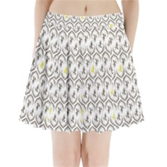 Garden Tree Flower Pleated Mini Skirt