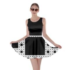 Hole Plaid Skater Dress