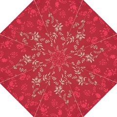 Leaf Flower Red Hook Handle Umbrellas (Large)