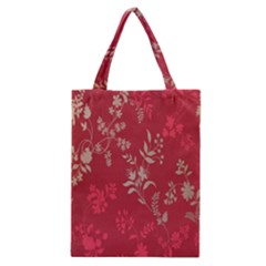 Leaf Flower Red Classic Tote Bag