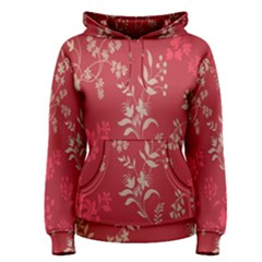 Leaf Flower Red Women s Pullover Hoodie