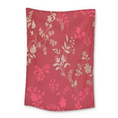 Leaf Flower Red Small Tapestry