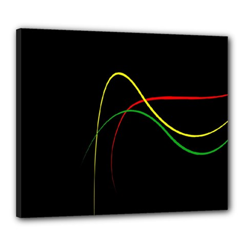 Line Red Yellow Green Canvas 24  x 20