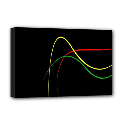 Line Red Yellow Green Deluxe Canvas 18  x 12