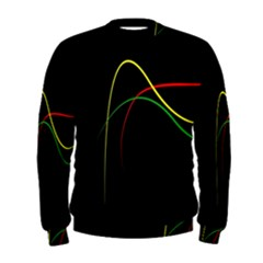 Line Red Yellow Green Men s Sweatshirt