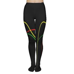 Line Red Yellow Green Women s Tights