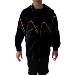 Line Red Yellow Green Hooded Wind Breaker (Kids)