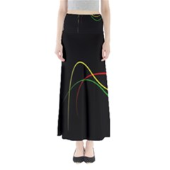 Line Red Yellow Green Maxi Skirts
