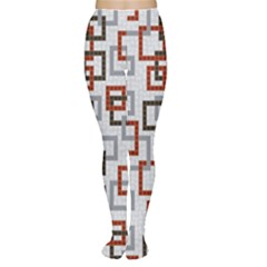 Links Rust Plaid Grey Red Women s Tights