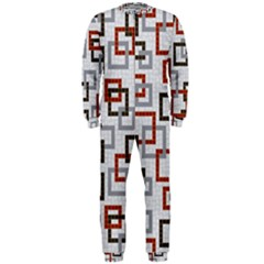 Links Rust Plaid Grey Red OnePiece Jumpsuit (Men)