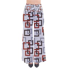 Links Rust Plaid Grey Red Pants