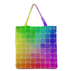 Number Alphabet Plaid Grocery Tote Bag