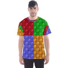 Number Plaid Colour Alphabet Red Green Purple Orange Men s Sport Mesh Tee