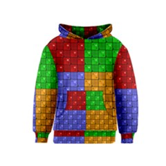 Number Plaid Colour Alphabet Red Green Purple Orange Kids  Pullover Hoodie