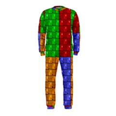 Number Plaid Colour Alphabet Red Green Purple Orange OnePiece Jumpsuit (Kids)