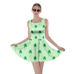 Palm Tree Coconoute Green Sea Skater Dress
