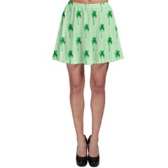 Palm Tree Coconoute Green Sea Skater Skirt