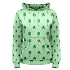 Palm Tree Coconoute Green Sea Women s Pullover Hoodie