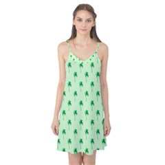 Palm Tree Coconoute Green Sea Camis Nightgown