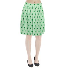 Palm Tree Coconoute Green Sea Pleated Skirt